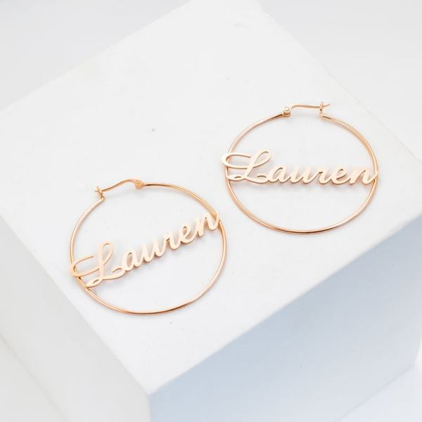 Name Hoop Earring