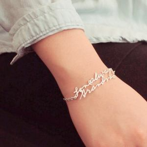 Actual Handwriting Bracelet