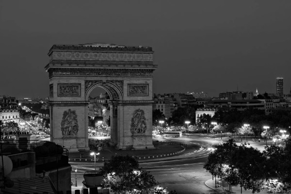 L'Arc de Triomphe, Noir et Blanc, #NikkorOnTop 2019