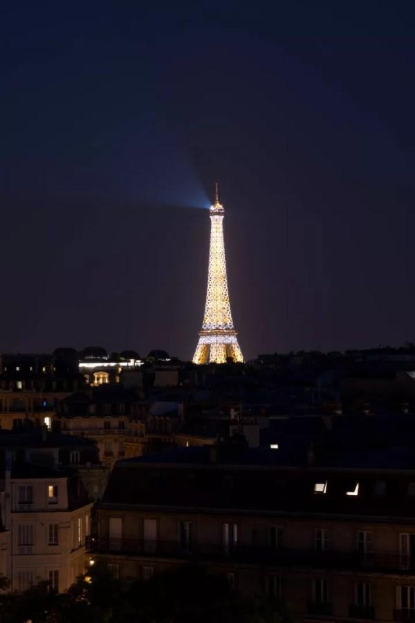 La Tour Eiffel de nuit, 25 juin 2019