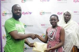 Miss Zuweira Baba Mohammed in the studios of Citi FM in Accra