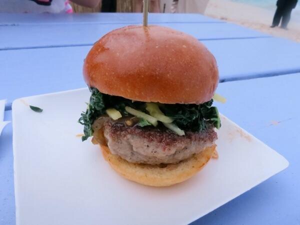 Tysons pork burger