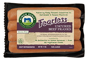 Uncured Beef Fearless Franks