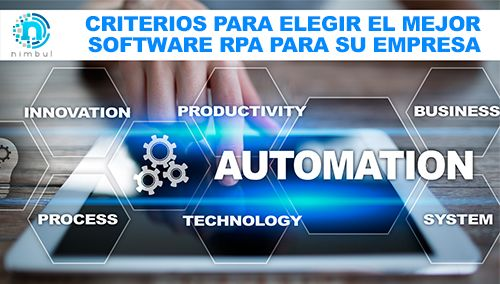 software RPA criterios