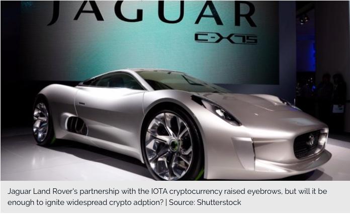 Do Jaguar Land Rover & IOTA Hold the Key to Mass Crypto Adoption?