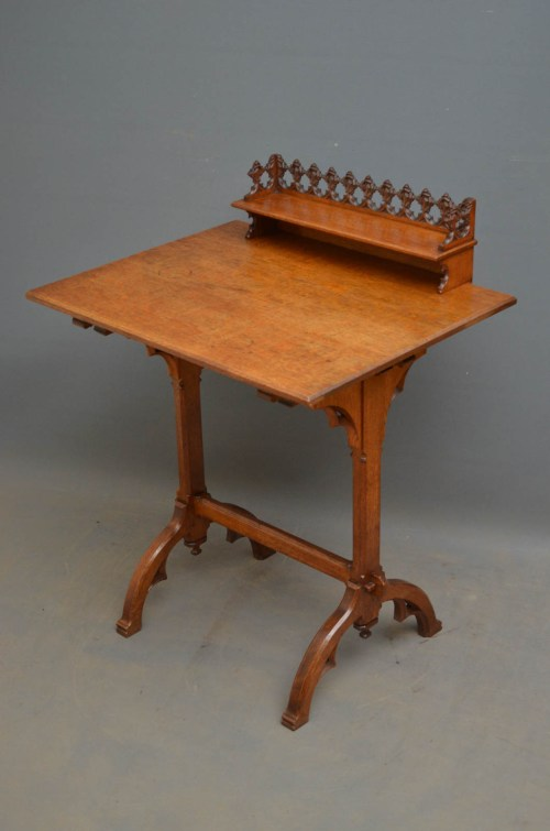 Gothic Revival Oak Table in the Manner of Pugin