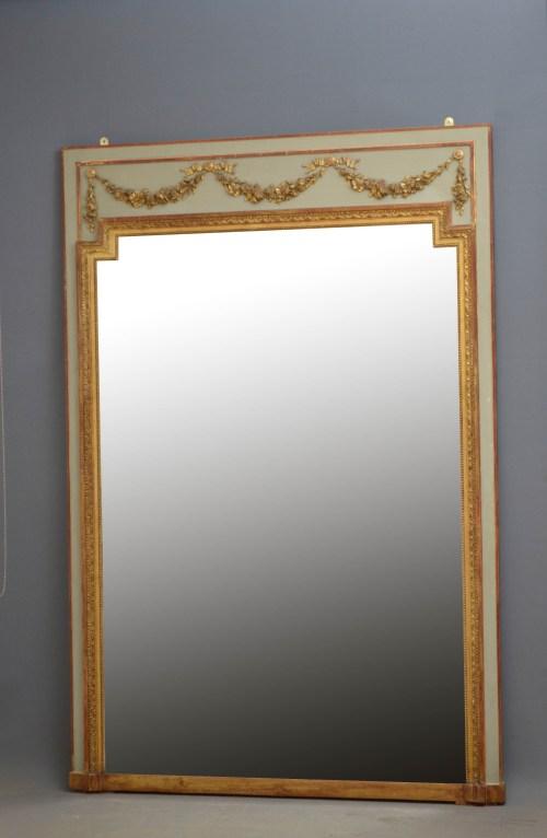Large 19th Century Trumeau Mirror H195cm