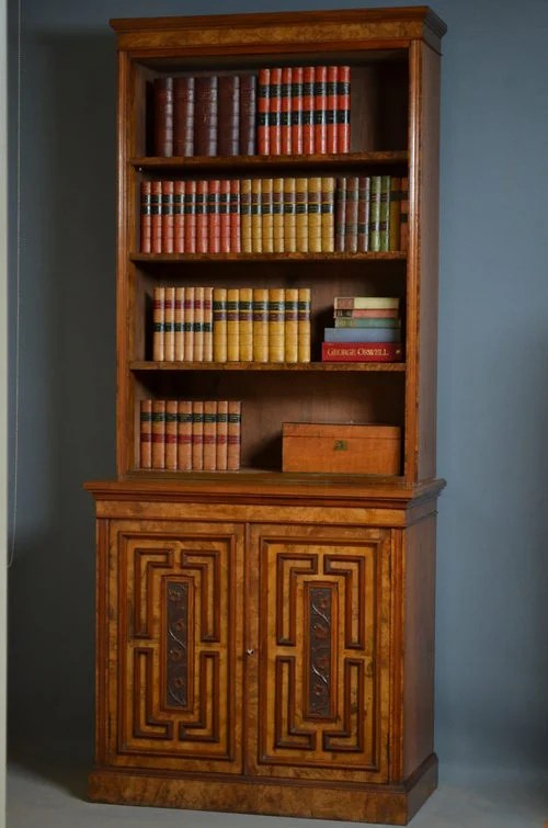 Victorian Library Bookcase in Walnut