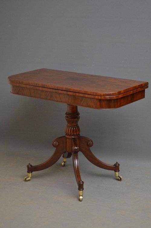 Regency Tea Table - Mahogany Table