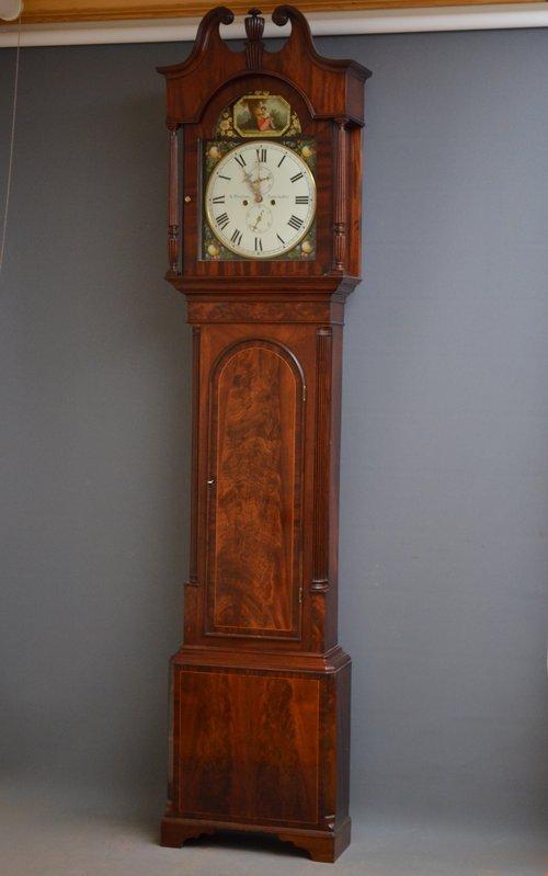 Regency Longcase Clock by W. Preston, Lancaster