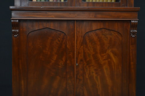 Fine William IV Mahogany Bookcase