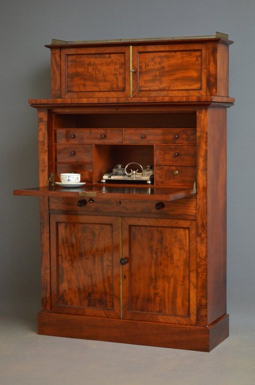 Magnificent William IV Mahogany Secretaire