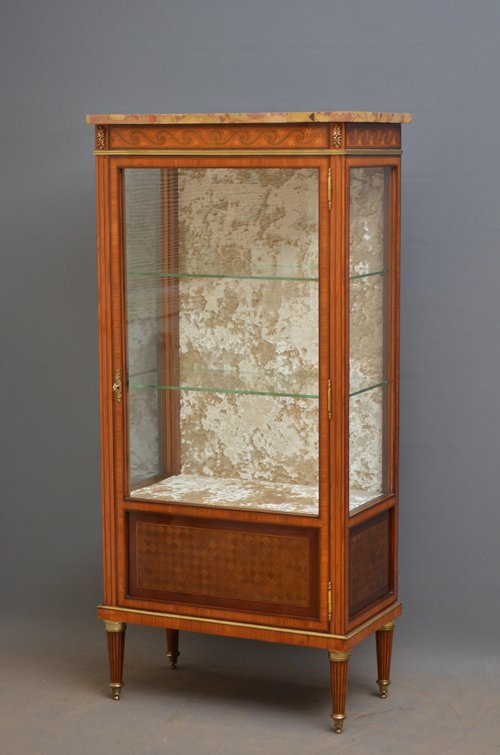 Exquisite Rosewood and Inlaid Vitrine