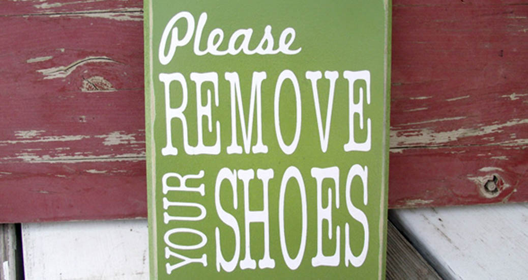 """Why We Have a """"No Shoes"""" Rule In Our House (and You Should Too)"""