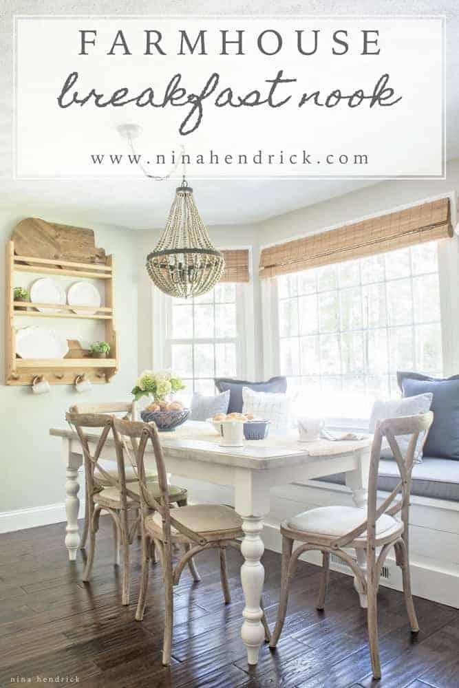 Farmhouse Breakfast Nook Reveal Nina Hendrick