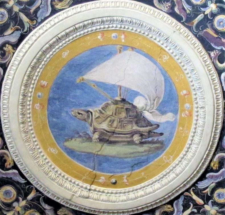 Parte del fresco de Lorenzo Sabatini Festina Lente para Palazzo Vecchio