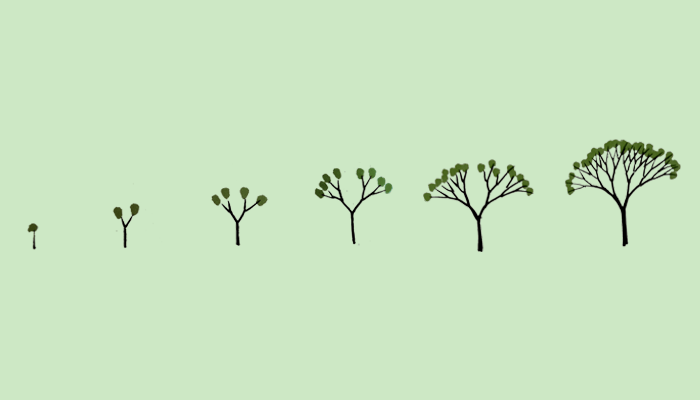 dibujar un árbol-crecimiento