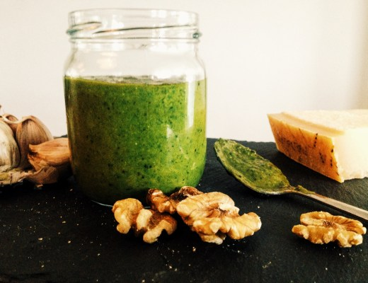 pesto met walnoot