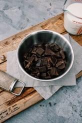 Warme chocolademelk met butterscotchlikeur