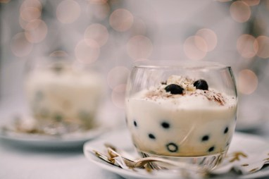 Witte chocoladetrifle