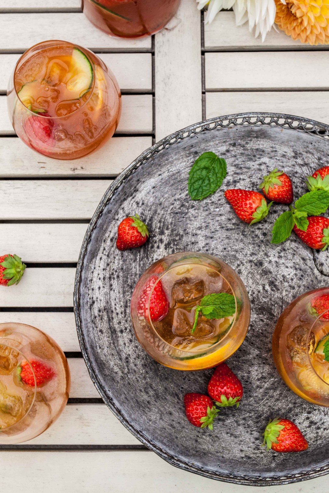 Zomerfruit cocktail