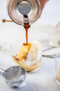 Affogato met salted kokos-caramel