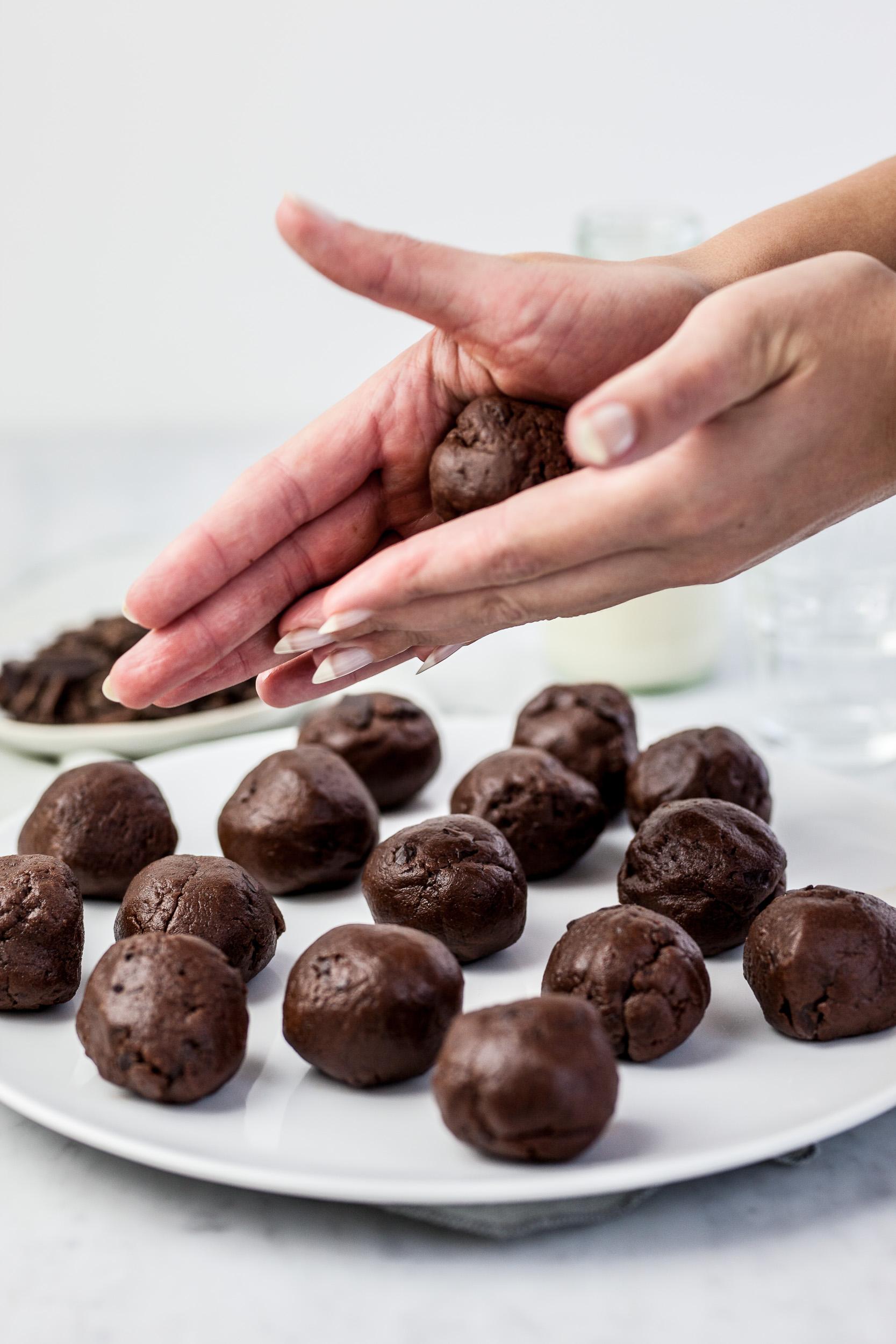 Pure chocoladekoekjes met zeezout