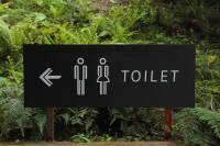 outdoor toilet sign