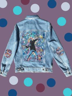 veste en jean personnalisée artistique