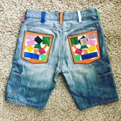 short en jean customisé