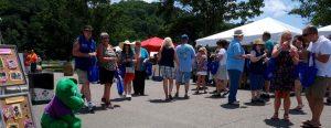 crowd at Nine Lakes Wine Festival