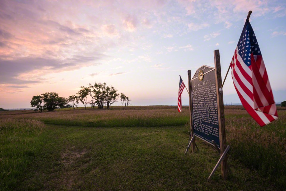July 5, Dawn at the Historical Marker