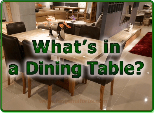 WhatsInADiningTable