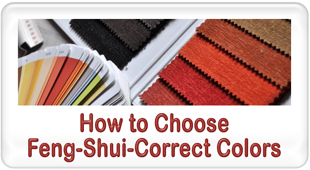 how to choose feng shui correct colors