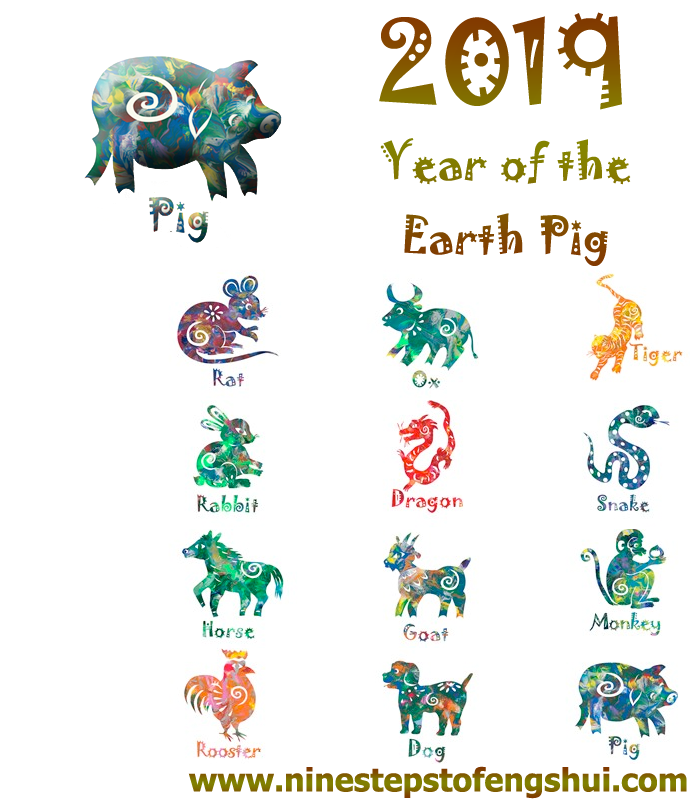 2019 Chinese Year of the Earth Pig Sign by Sign