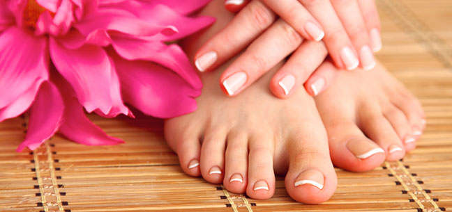 manicure and pedicures at nineteen hair and beauty