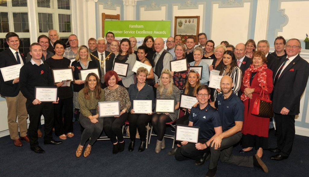 winners of Farnahm customer service awards 2018