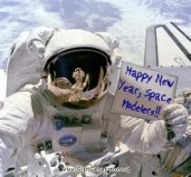 fêter le nouvel an dans l'espace