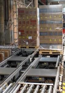 Transportadores de palets rodillos y cadenas