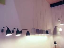Wall lights and pendants.