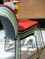 Color ful chairs. These were also comfortable.