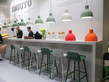 Muuto lamps and chairs