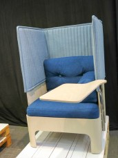 Work-chair, sound-isolated