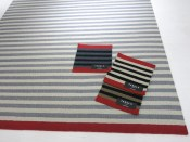 Striped carpets in nice colors.