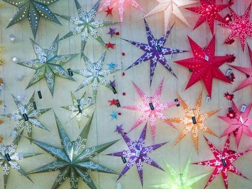 Xmas decoration stars.