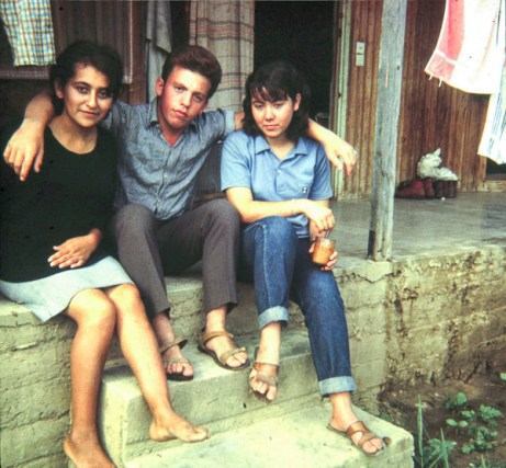 Leon from Turkey in the middle. Don't remember the names of those two girls.