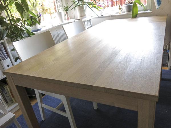 oiled oak, kitchentable