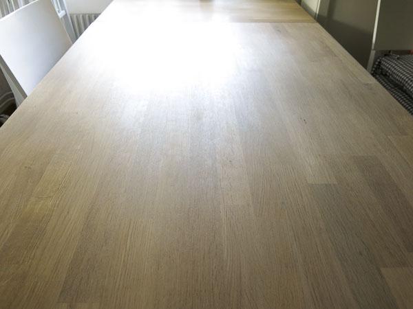 oiled oak, kitchen table