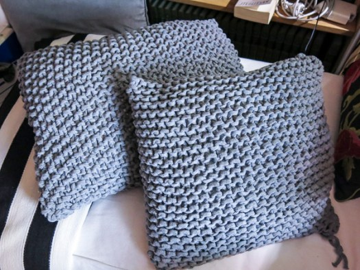 pillowcases, knitted