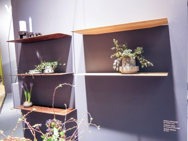 Shelves with an interesting way of hanging them